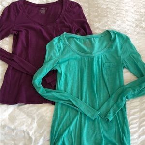2 long sleeve shirts from Old Navy